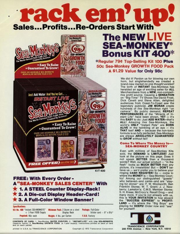 16 Amazing Facts About Sea Monkeys Sea Monkeys Fun Facts Vintage Advertisements