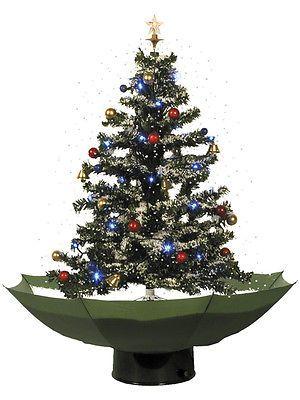 Weihnachtsbaum mit Schneefall 75cm Schneiender Tannenbaum Christbaum Schnee