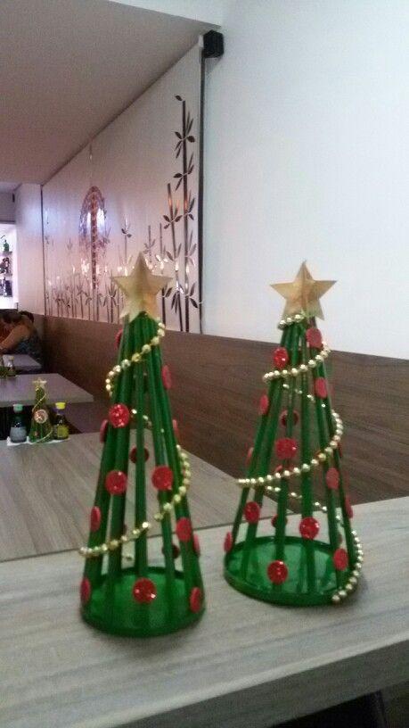 Mini árvore de natal - decoração de mesa do Japão Full Sushi