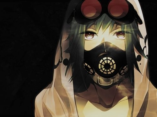 Steampunk anime gas mask - Anime girl with gas mask ...