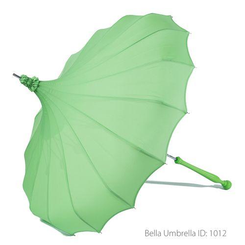 Umbrella ID 1012 | Fresh Green Signature Bella Pagoda Umbrella | Bella Umbrella | Vintage Umbrella Rentals