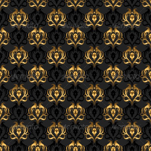 Gold And Black Wallpaper Feature Wall Ideas Modern