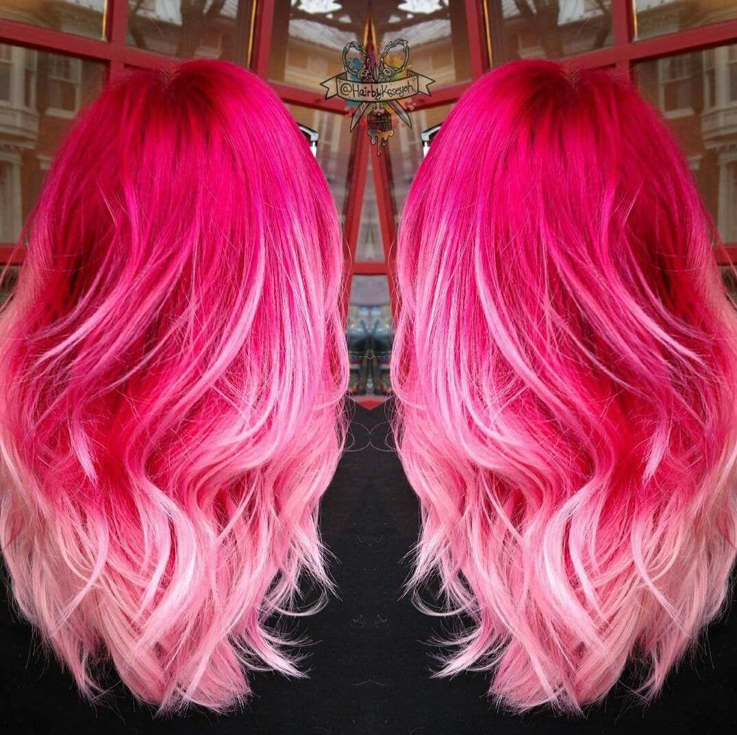 Hot Pinkbaby Pink Ombre Hair Hair Ideas Pinterest Hair