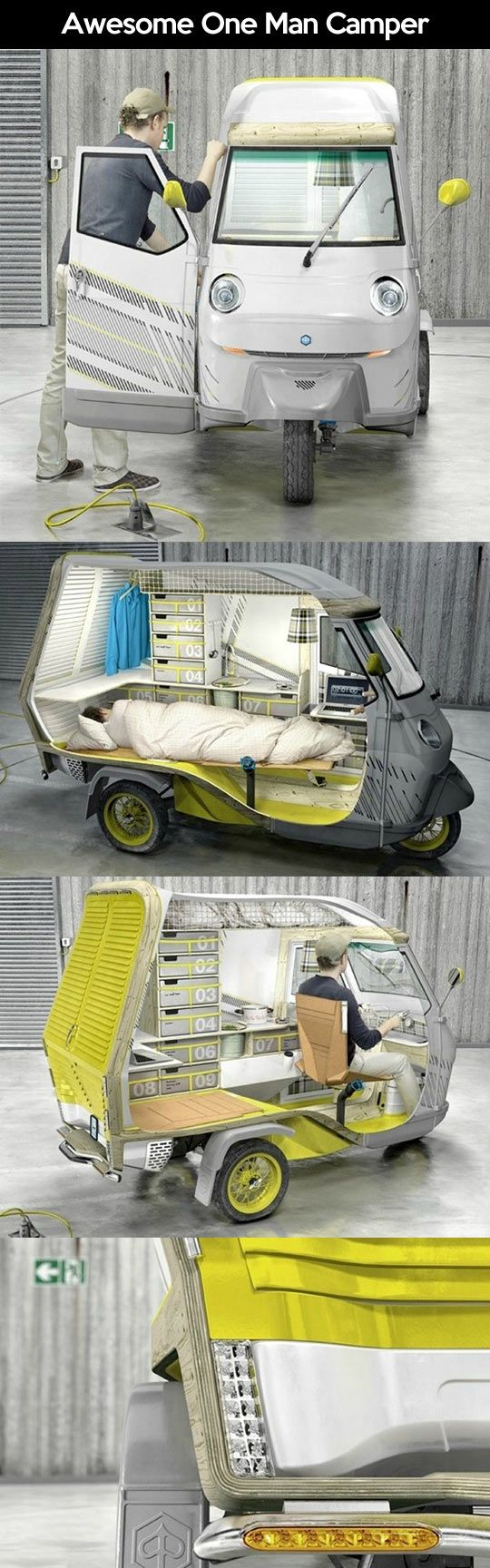 Awesome One Man Camper Camper Car Camping Cool Campers