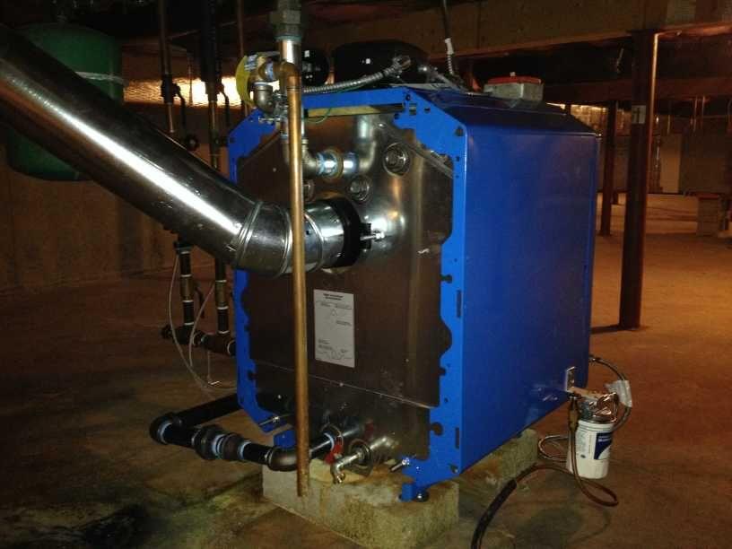 Back Of My New Buderus G115 Boiler