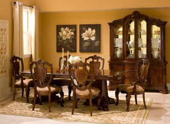 Surprising Dining Room Set Raymour Flanigan Old World Full Set W Download Free Architecture Designs Intelgarnamadebymaigaardcom