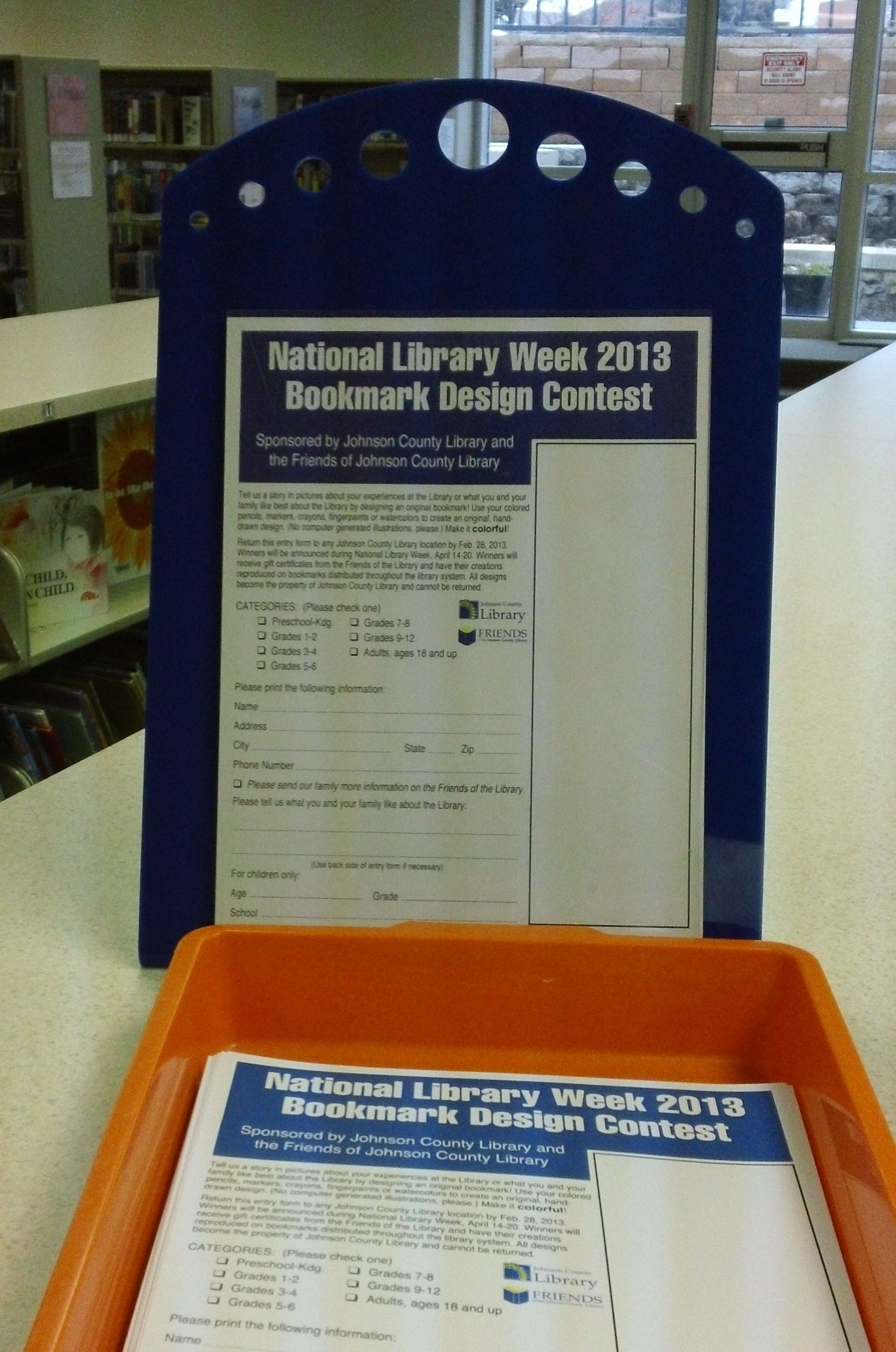National Library Week  Bookmark Design Contest Have You