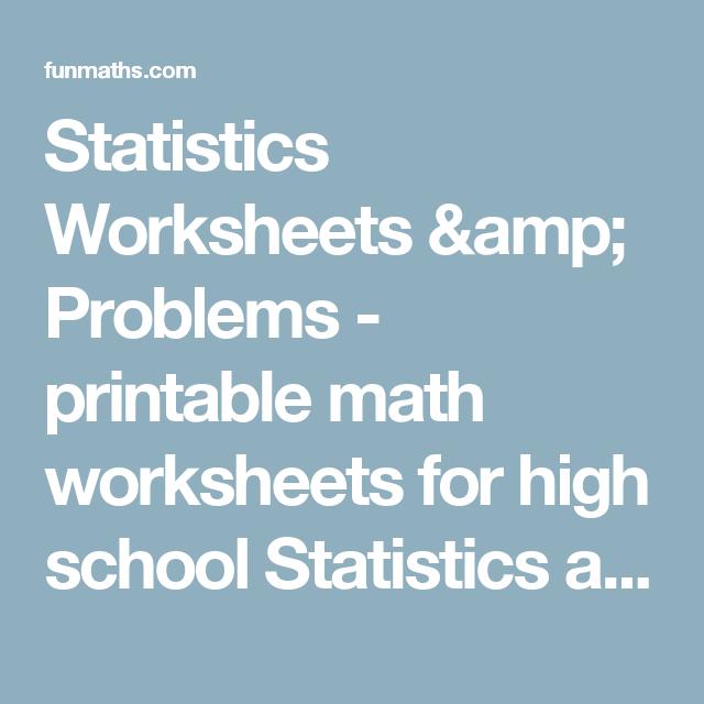 Statistics Worksheets & Problems - printable math worksheets for ...
