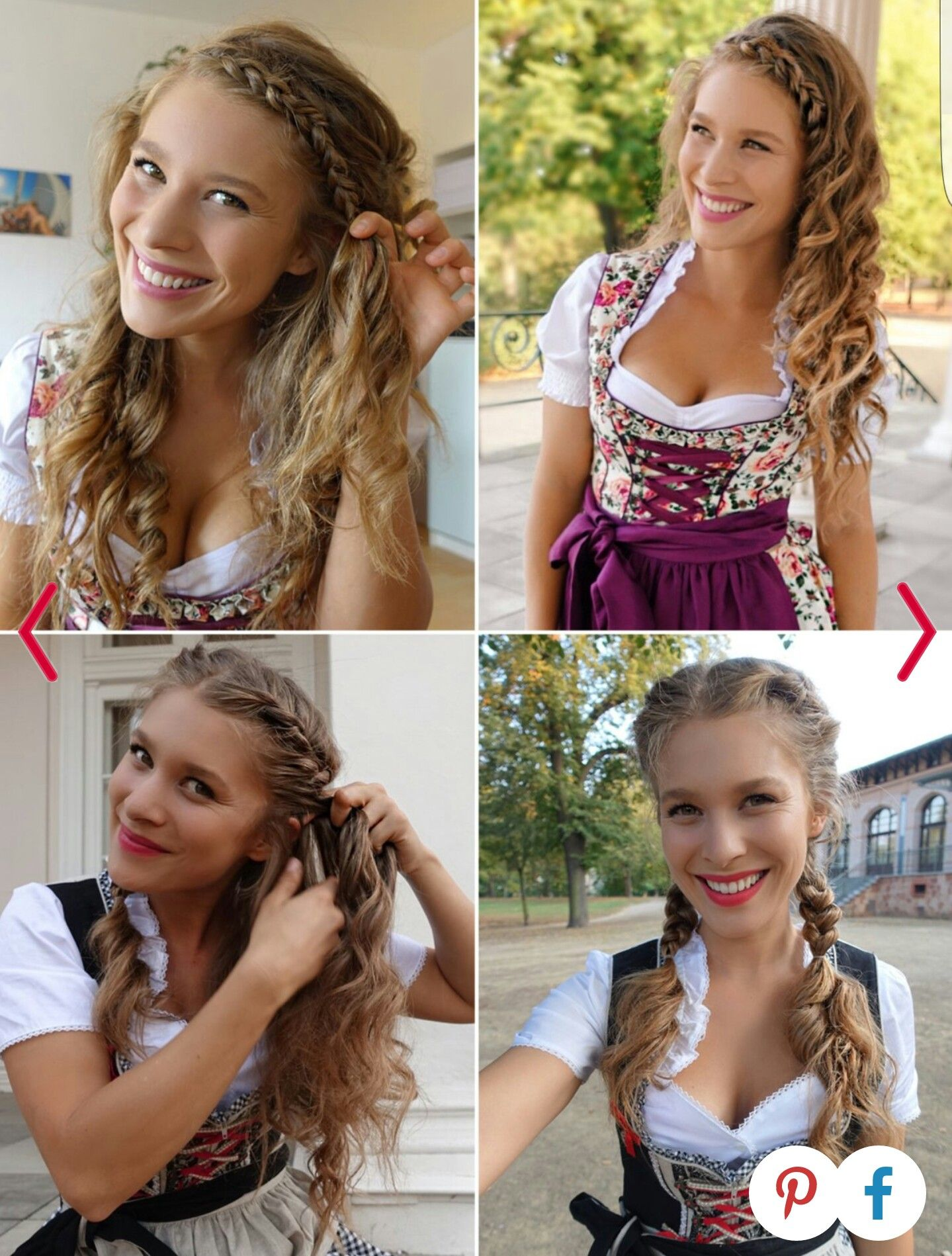 Roxi Strasser Dirndlfrisuren Beauty Hair In 2019 Dirndl