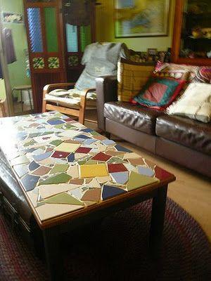 DIY mosaic coffee table furniture & home DIY ideas
