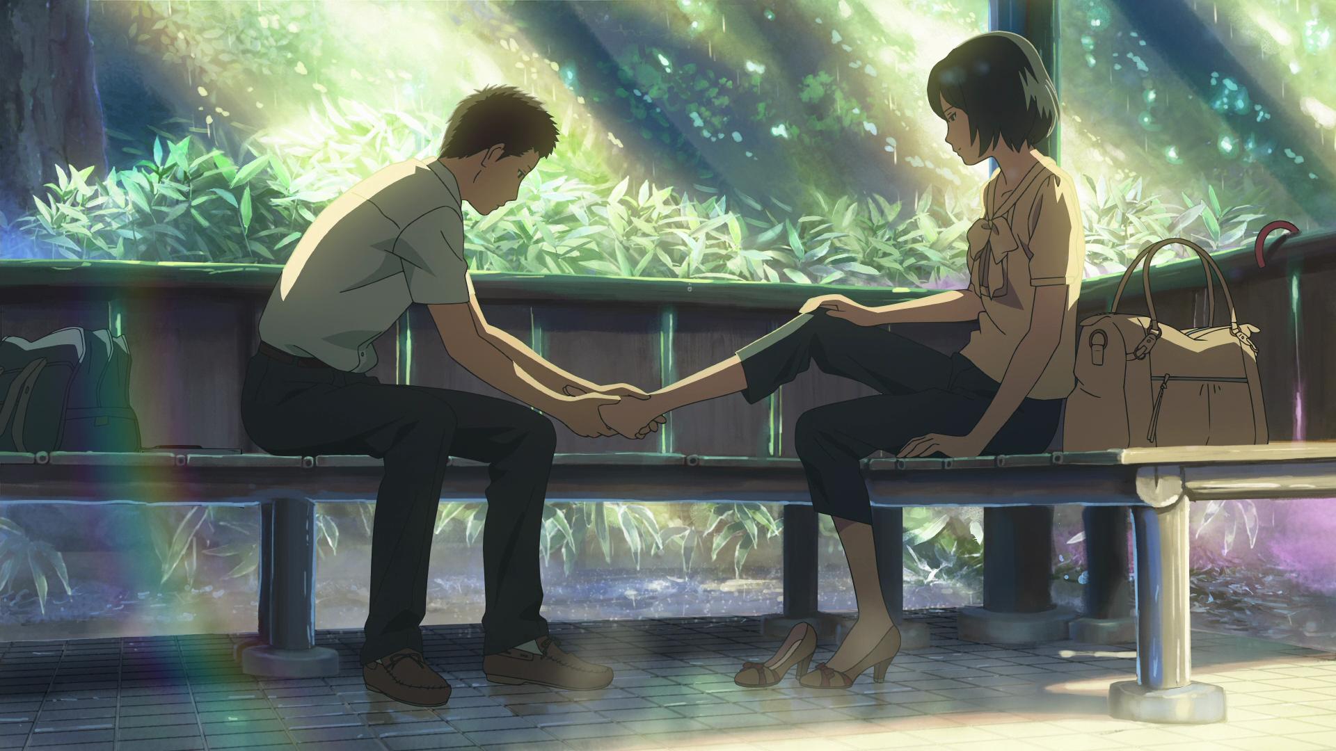 Takao Akizuki Yukari Yukino Kotonoha No Niwa The Garden Of Words Garden Of Words Anime Love Words Wallpaper