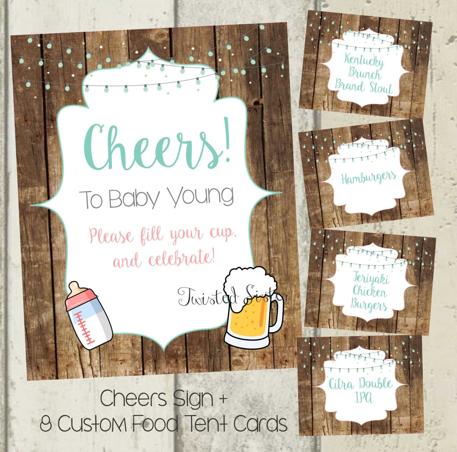 A Baby is Brewing Decorations Beer Baby Shower decor Beer Baby
