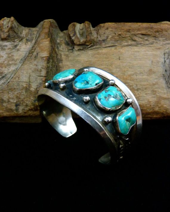 61g Vintage Navajo Sterling Silver Cuff by PoohsCornerOTheWorld