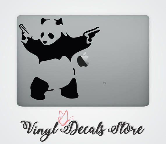 Permanent macbook decal banksy vinyl sticker funky die cut