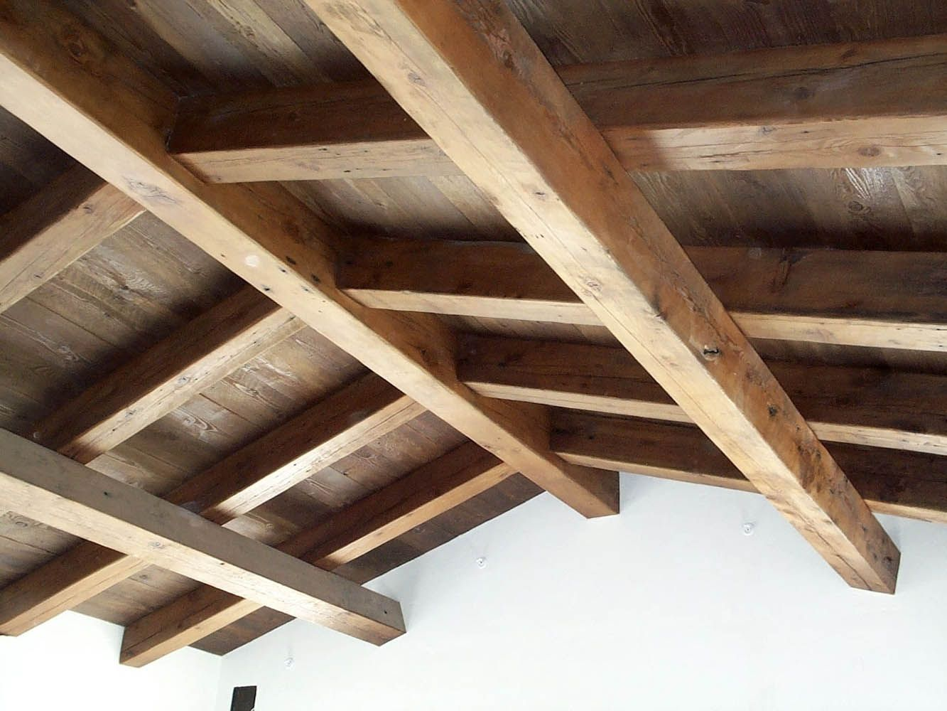 This Ceiling Used Reclaimed Ground Douglas Fir Beams And