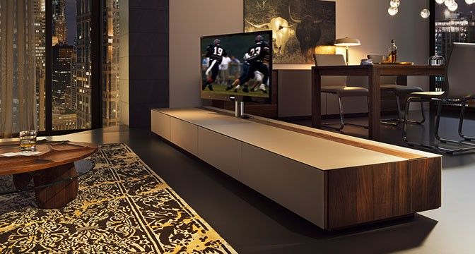 cubus home entertainment raumteiler mit drehbarer tv s ule team 7 m nchen wohnzimmer. Black Bedroom Furniture Sets. Home Design Ideas