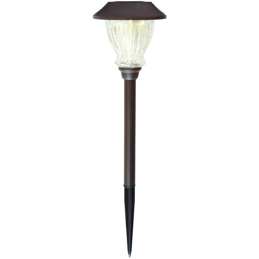 Hampton Bay Solar Bronze Outdoor Integrated LED 3000K 10 Lumens