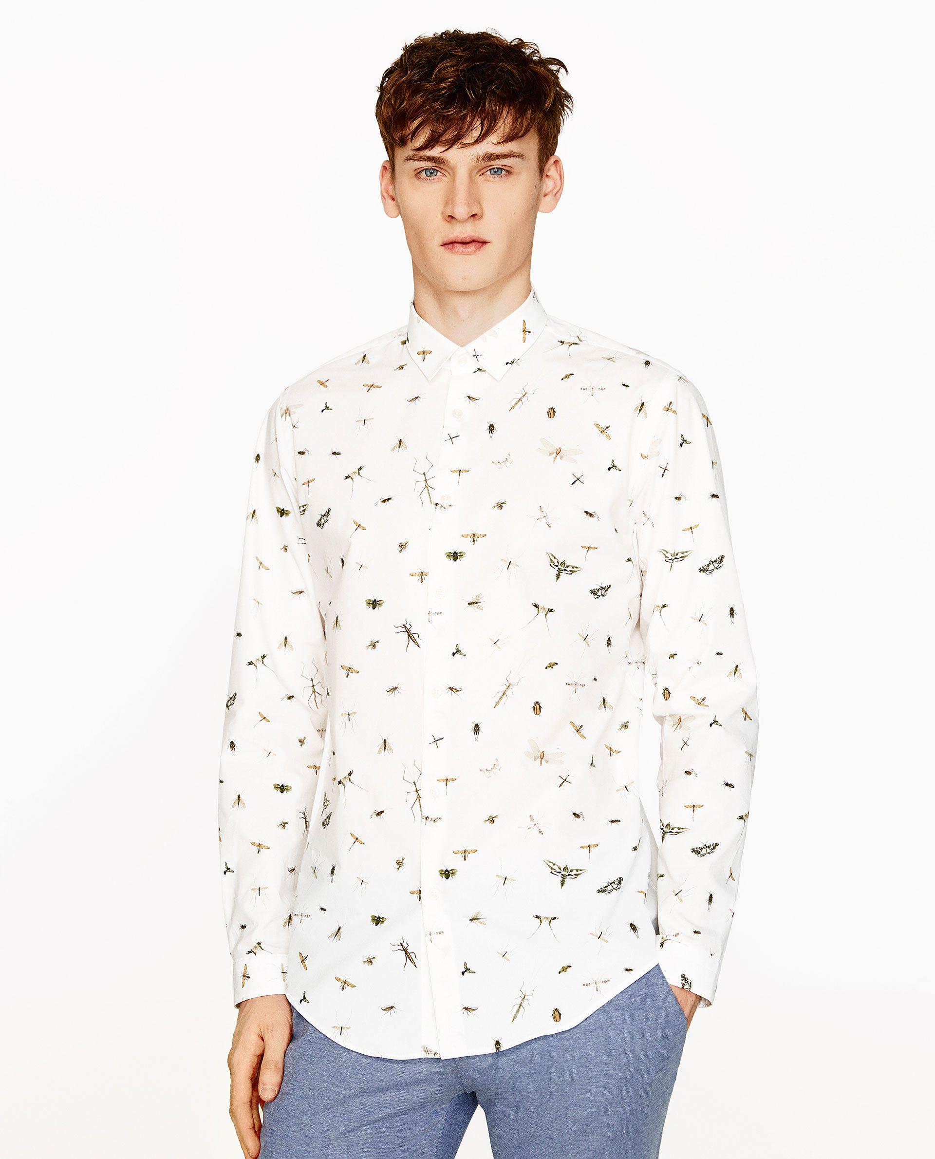 Imagen Zara 2 De En 2019 Camisa Insectos Estampado SMpqzVU