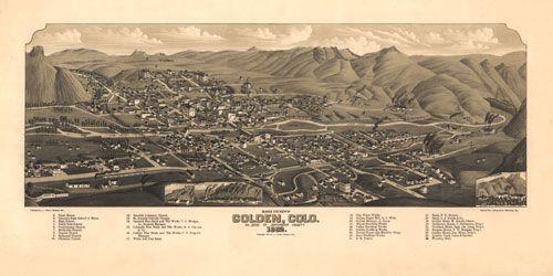 Historic Map – Golden CO 1882 maps Pinterest