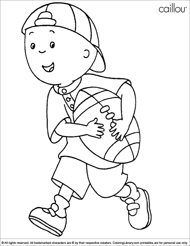 Caillou football coloring page  Coloring pages  Pinterest  Caillou