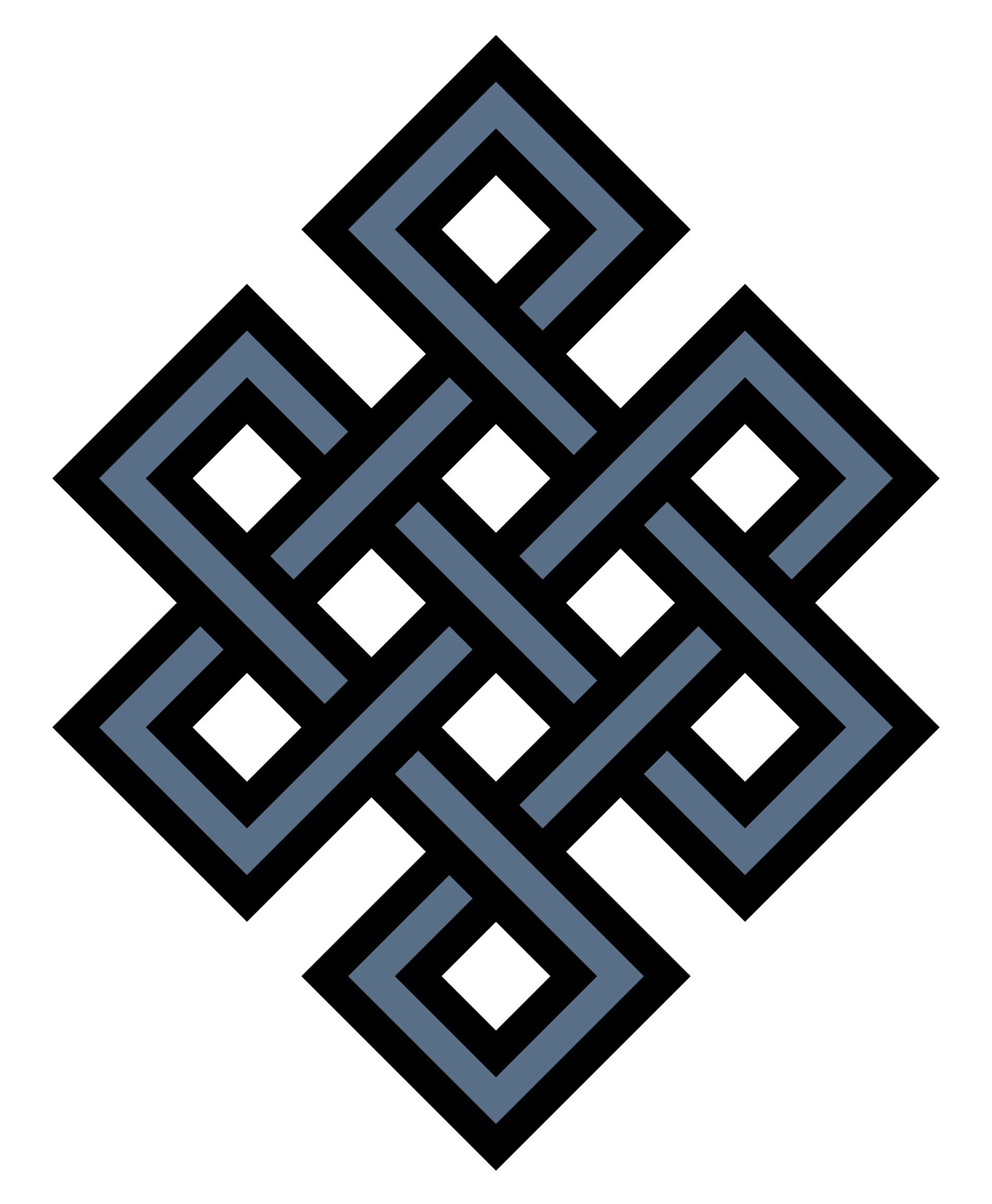 Buddhist Symbol Of The Eternal Knot The Intertwining Of Lines In