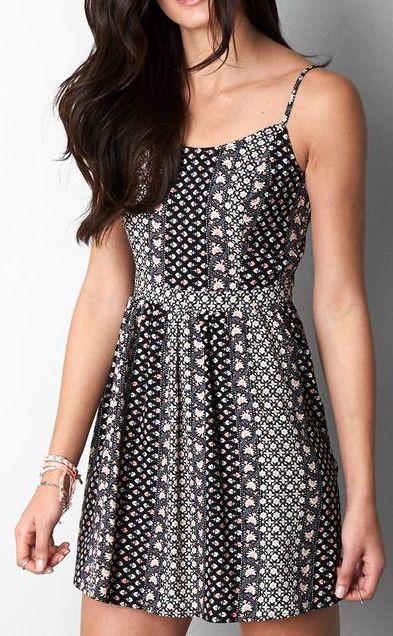 Black AEO Fit & Flare Dress
