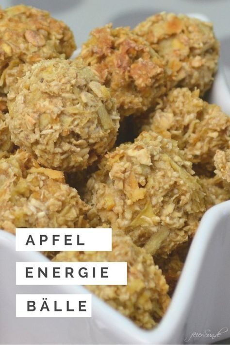 Photo of Apple snacks as energy balls FeierSun.de
