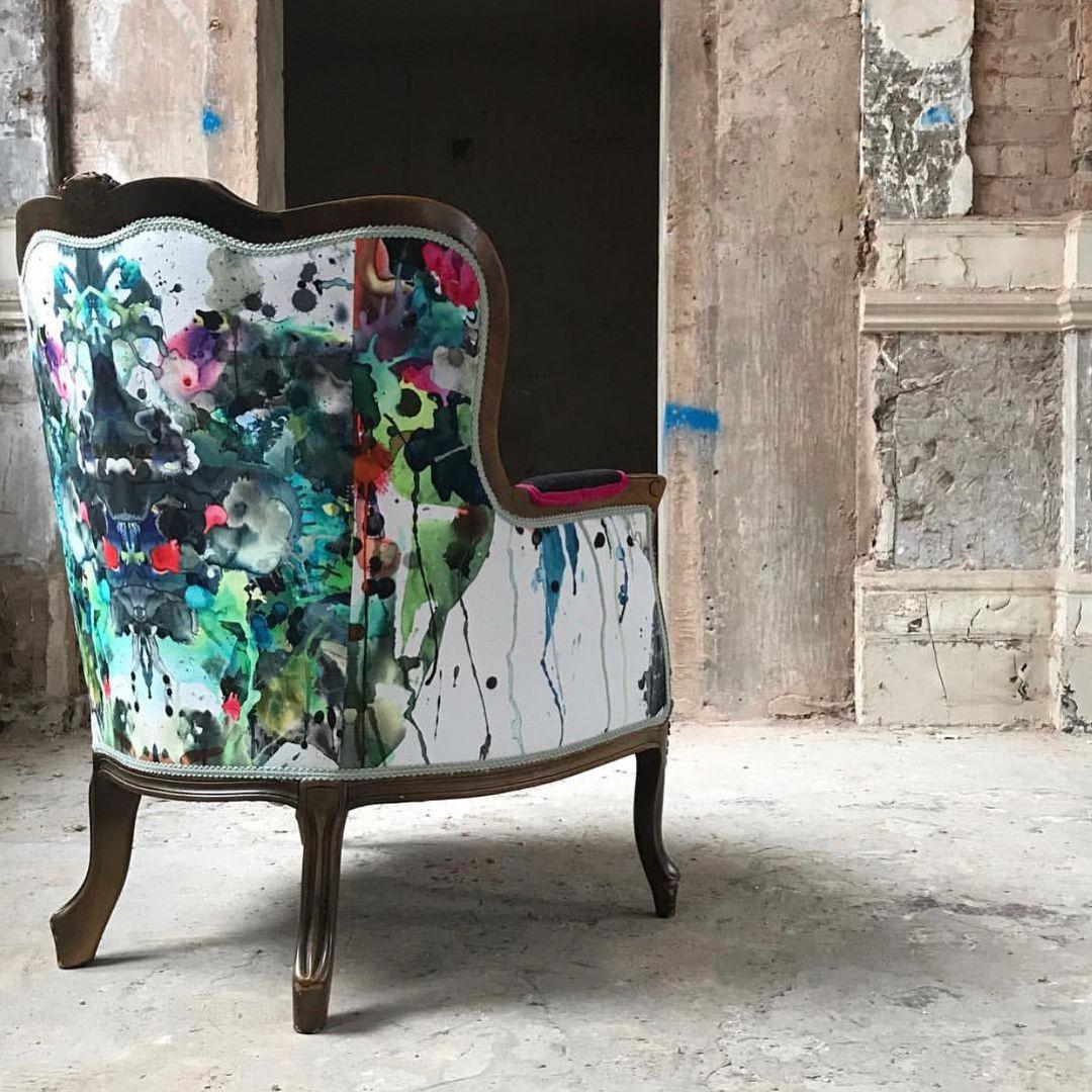 Timorous Besties Kaleido Splatt Panel Fabric print fabric