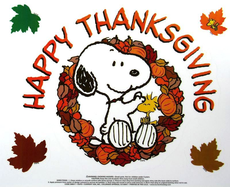 Thanksgiving Decorations Window Clings Frugal Fun Handcrafted And More Thanksgiving Snoopy Thanksgiving Clip Art Snoopy Thanksgiving Awesome snoopy thanksgiving wallpaper