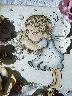 """Camillas Magnolia Kort: Sketchy Colors # 23  """" Blå och Lila"""""""
