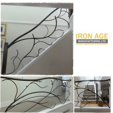 Best Tree Branch Railing Interior Stair Railing Custom 640 x 480