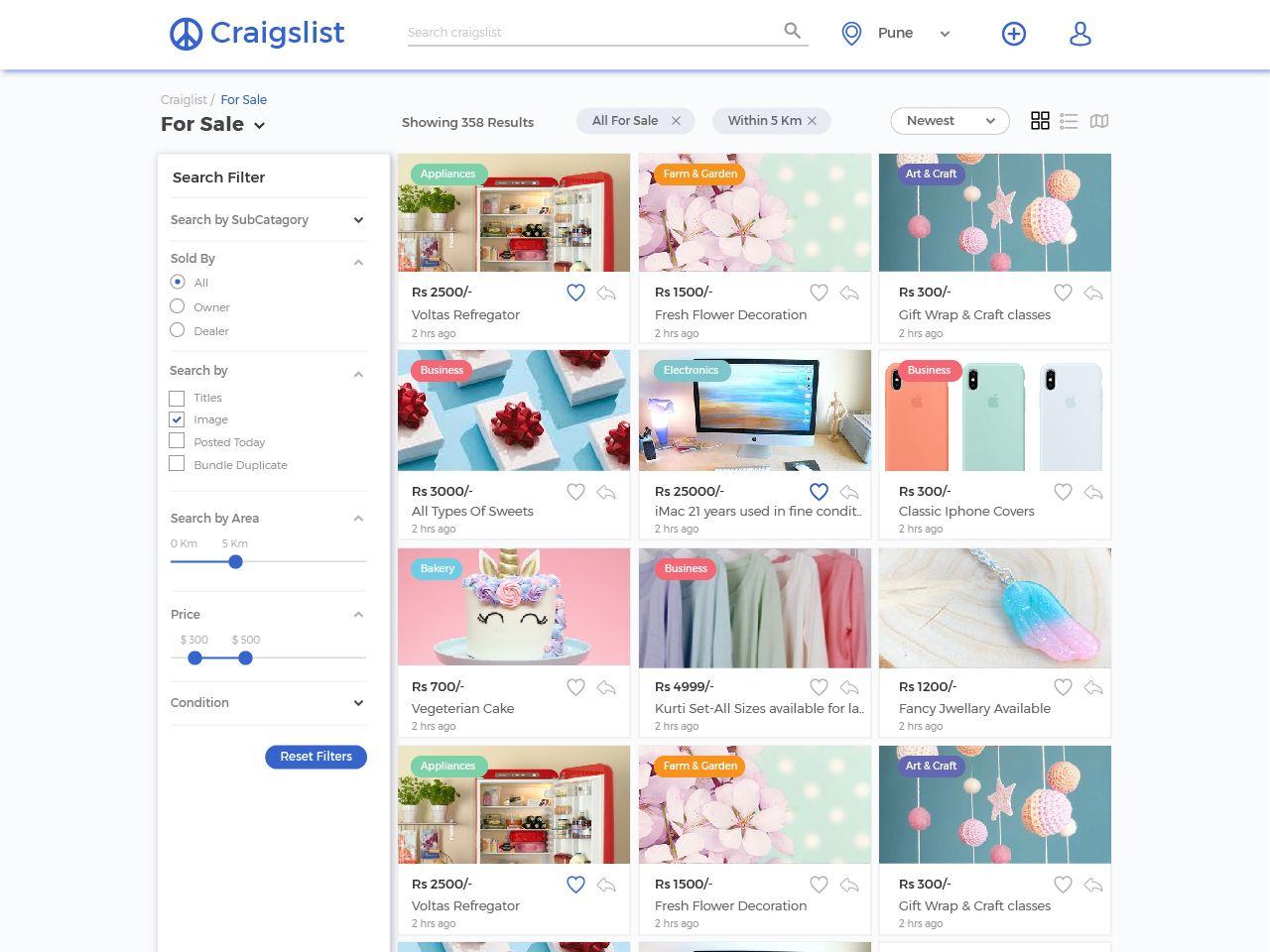 Craigslist Redesign Business Icons Design Redesign Design