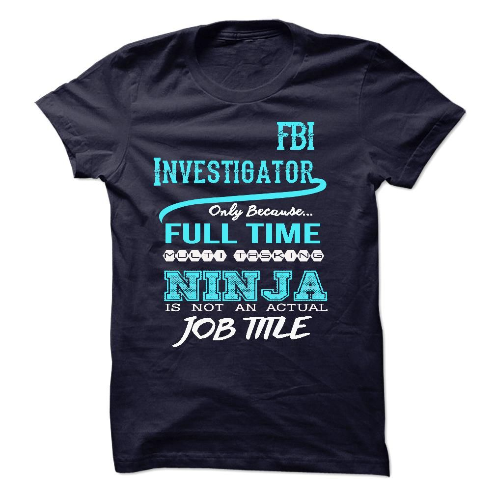 Ninja fbi investigator tshirt t shirt hoodie