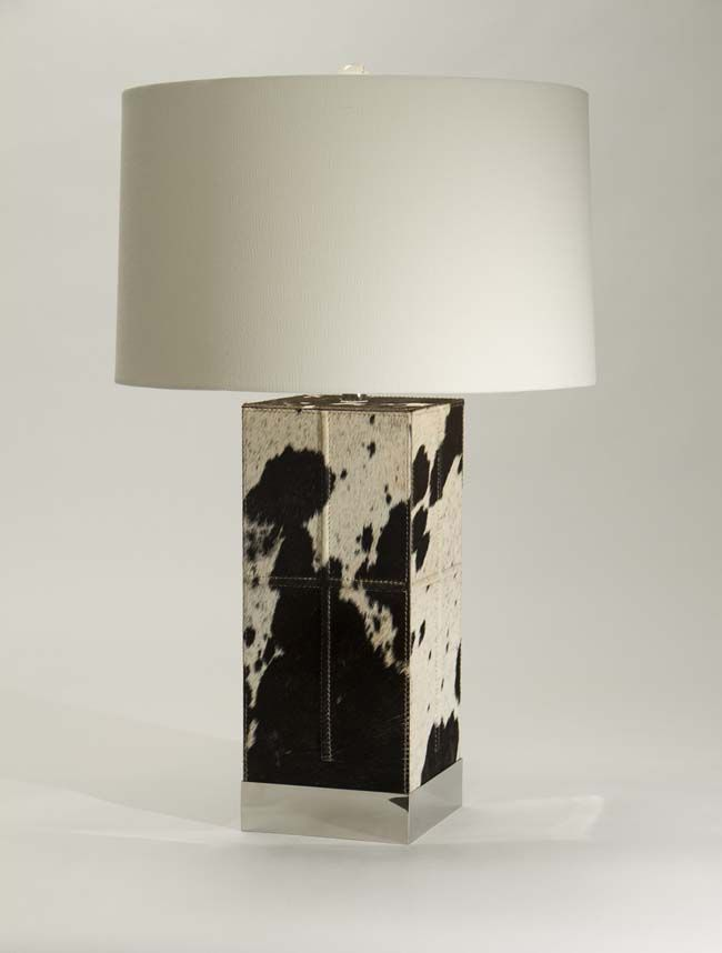 Rio Grande Cowhide Table Lamp Western Lamps Forge A New Frontier With This Natural Hair On Hide Lamp With Contemporary Styling Western Lamps Table Lamp Lamp