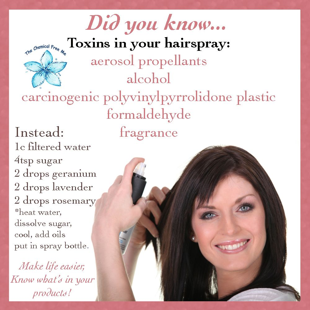 Tired Of Toxic Hairspray DIY And Skip The Harmful Chemicals