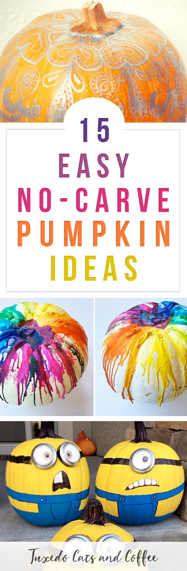 15 Easy NoCarve Pumpkin Ideas That Anyone Can Make