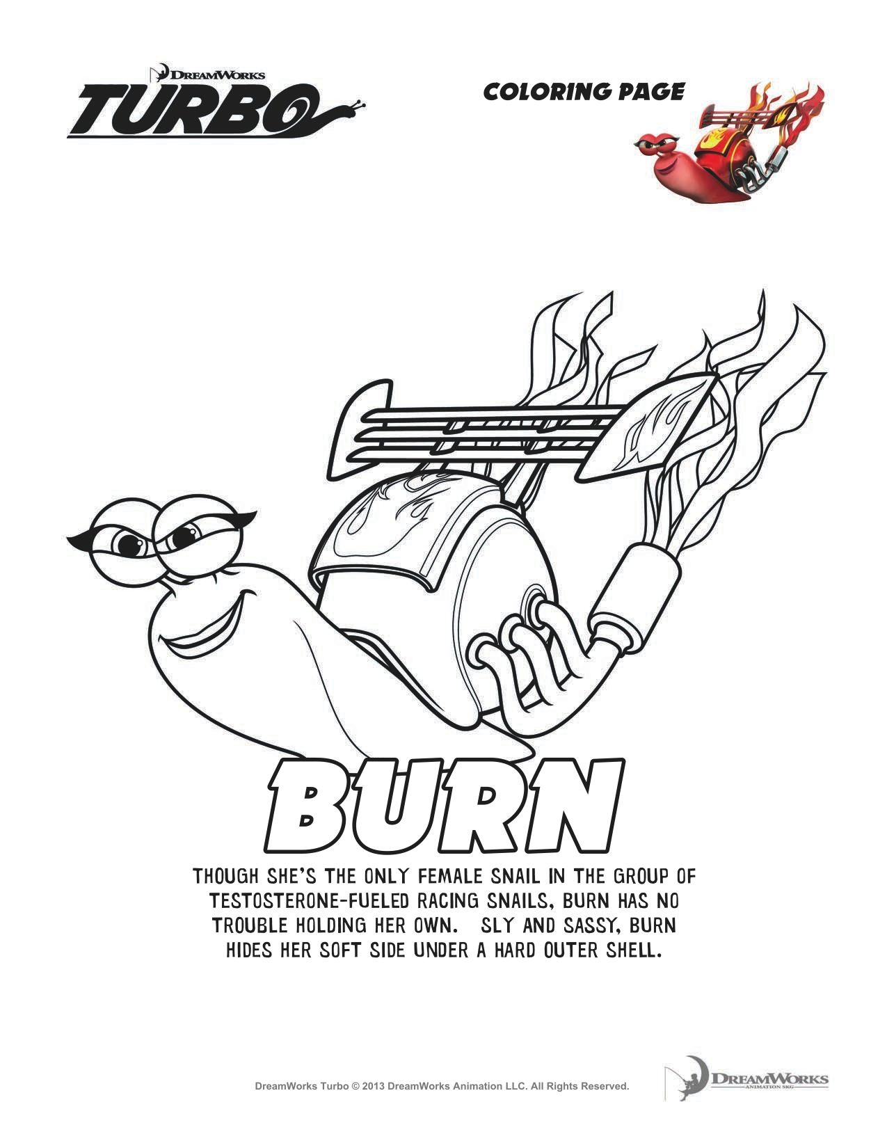 Turbo Burn Coloring Page Coloring Pages Cool Coloring Pages