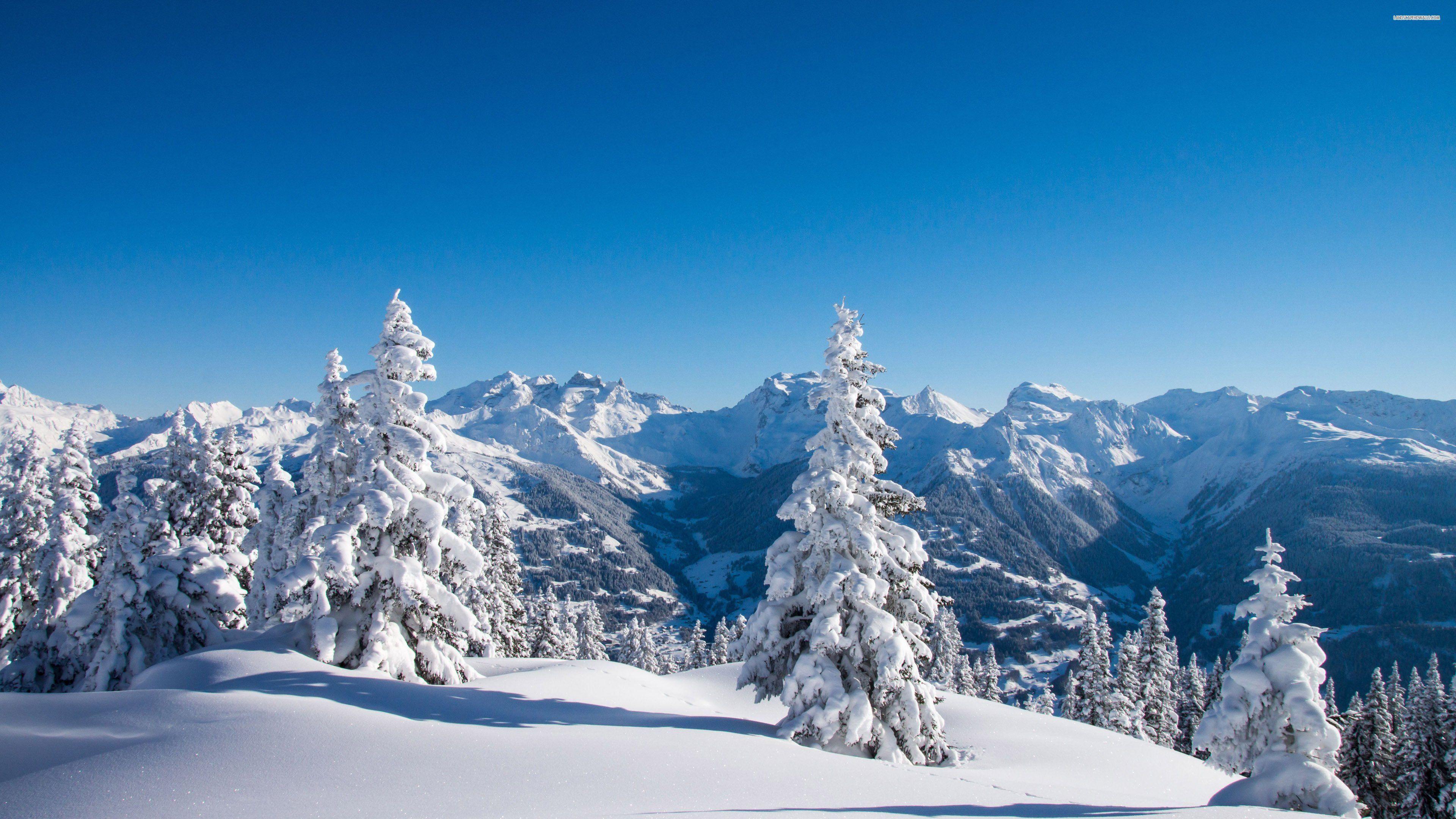 Winter Mountain Desktop Wallpaper HD Winter Mountain