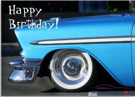 Shop Happy Birthday Classic Car Greeting Card Created By Ritmospeed