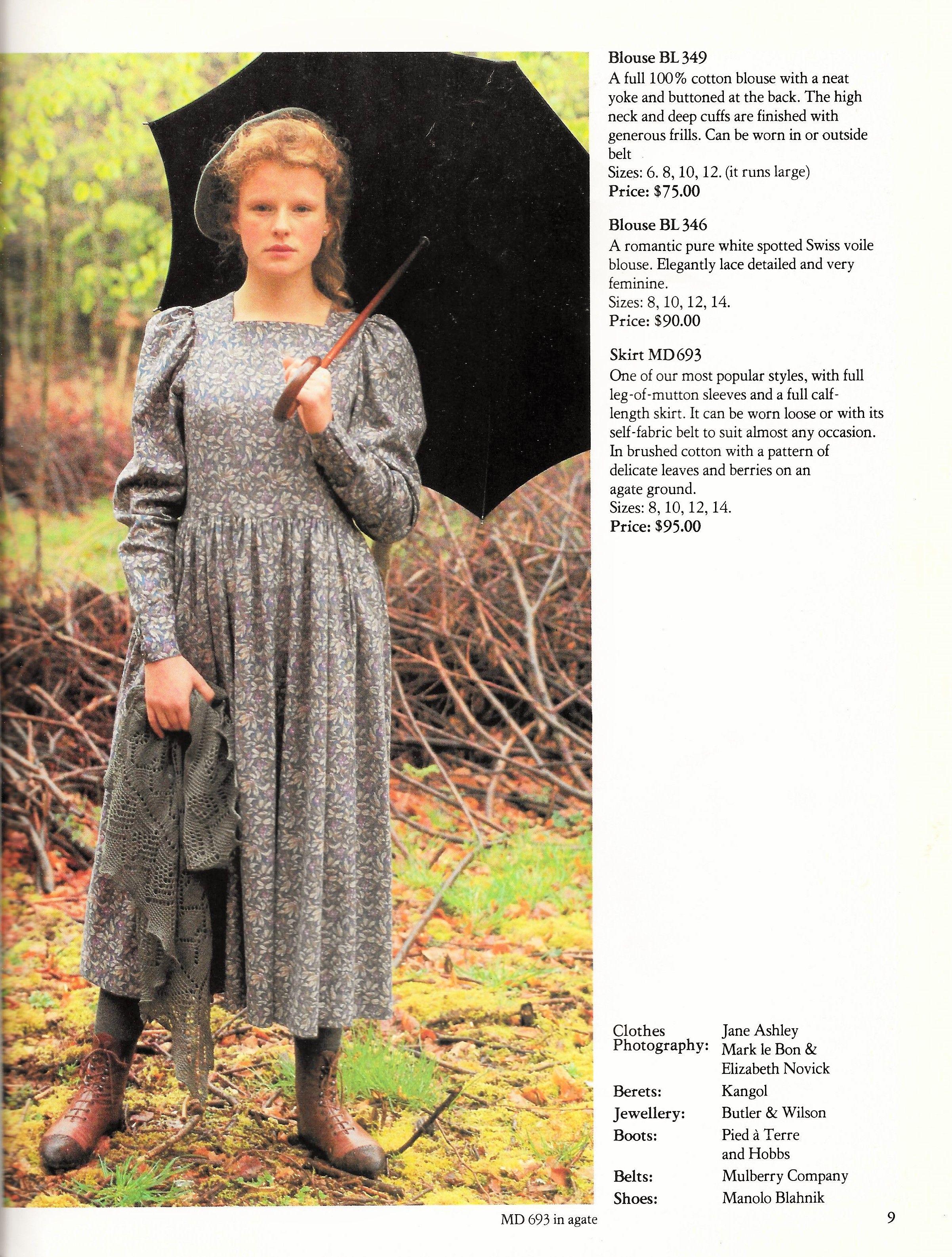7960f076bf6 Laura Ashley 1983 Autumn Winter Fashion Catalog Laura Ashley 80s