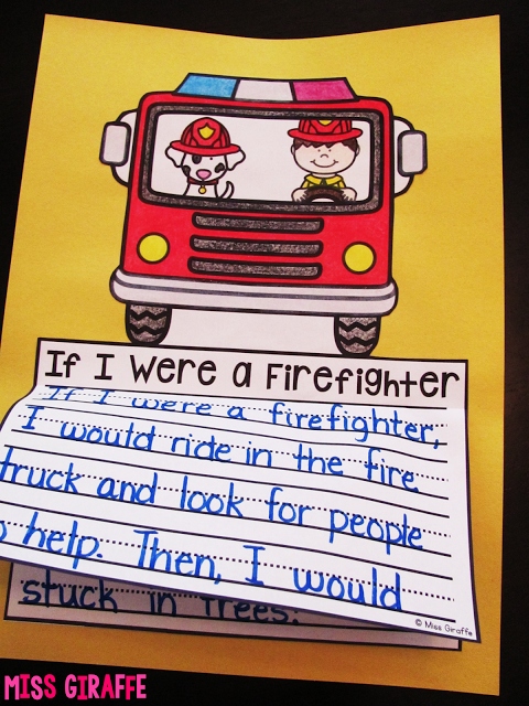 October Writing Crafts for Kids Literacy Firefighter