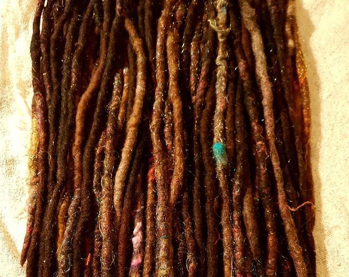 Bright autumn set Synthetic dreads  de dreads or se dreads | Etsy