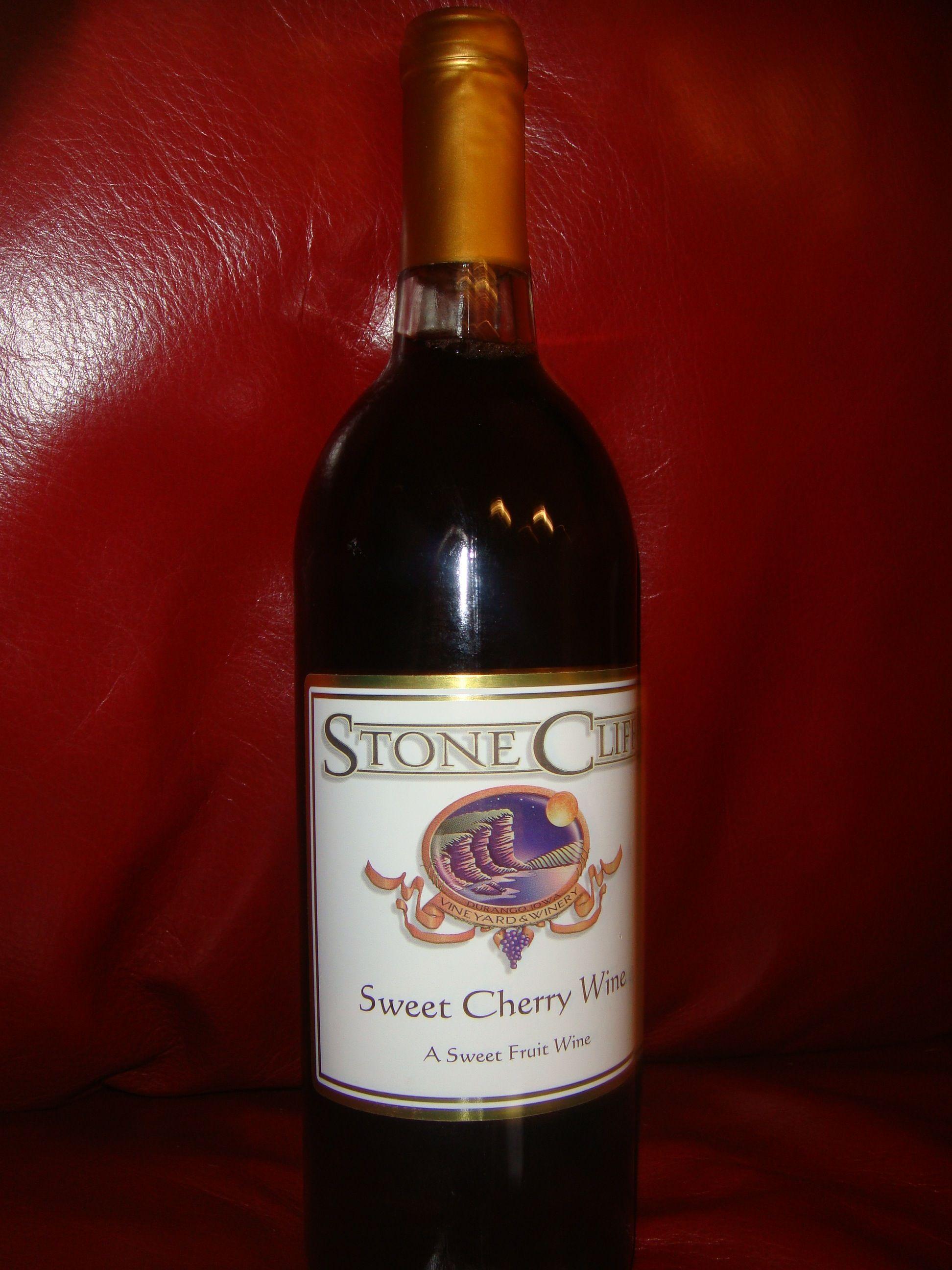 Sweet Cherry Wine By Stone Cliff Winery Cherry Wine Fruit Wine Sweet Cherries
