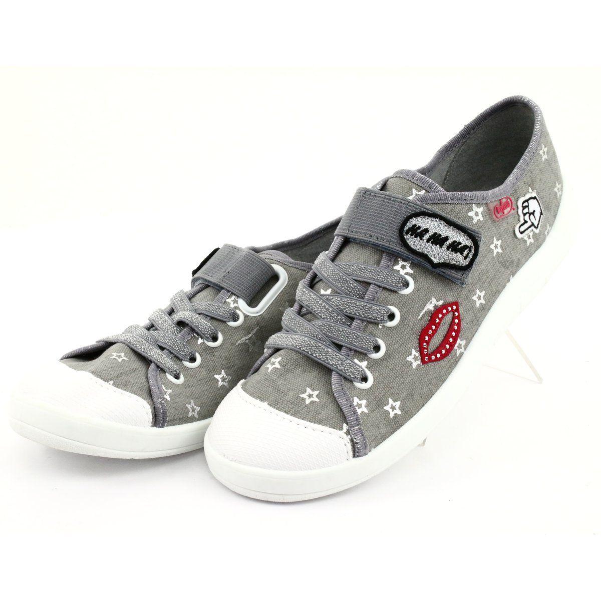 Befado Obuwie Dzieciece 251q095 Szare Kid Shoes Childrens Shoes Childrens Slippers