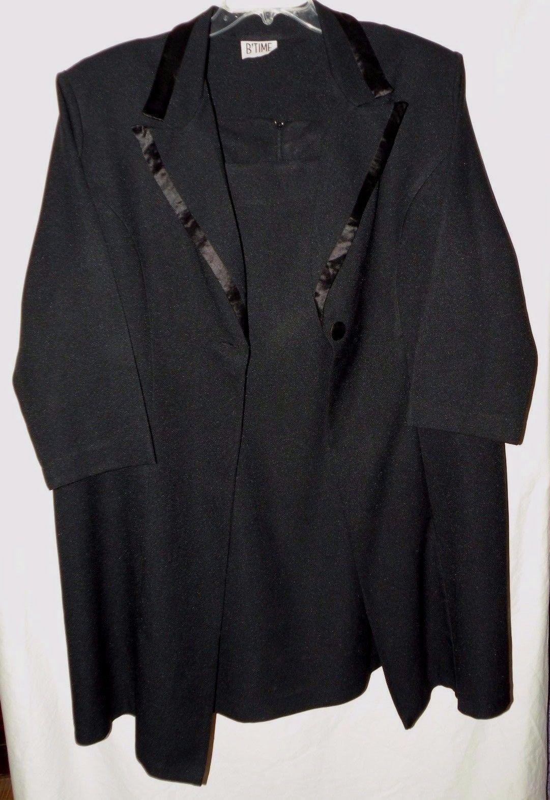 Nice awesome formal occasion little black dress u tuxedo style long