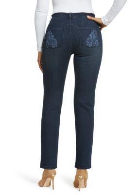f372023be1e4a Gloria Vanderbilt Women's Amanda Rosette Denim Average Jeans - Astoria Wash  - 10 Average