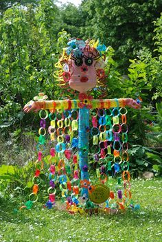 Epouvantail square clos feuqui res c photo kristophe for Pinterest deco jardin