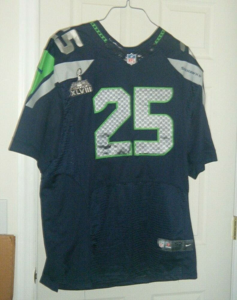 sports shoes 784d9 8019a Seattle Seahawks NFL Nike Super Bowl 48 Richard Sherman 25 ...