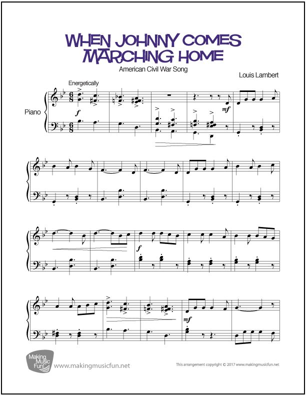 When Johnny Comes Marching Home | Premium Sheet Music for