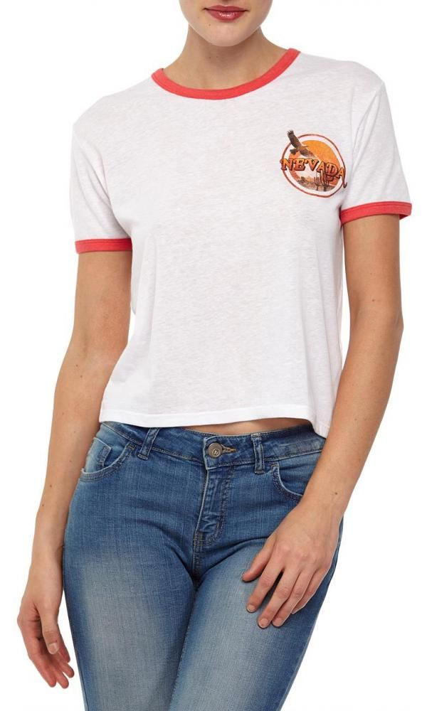 7f69554e2ff Cotton On Women - tbar winnie ringer tee - Nevada white
